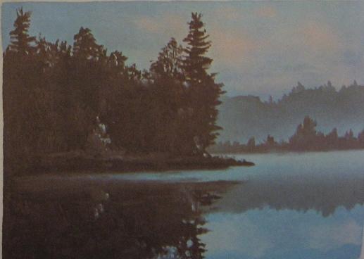 Урок рисования: пейзаж с отражением в воде
